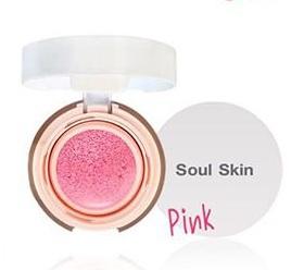 Soul Skin CC Cushion Blush on Pink Color บลัชออน คุชชั่น สีชมพู