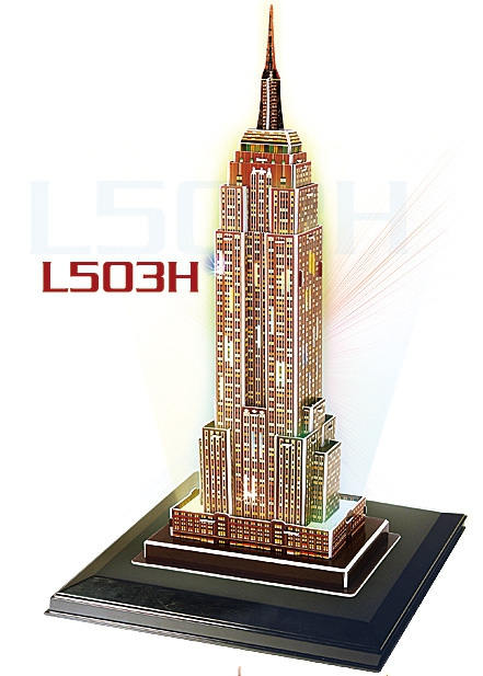 Empire State Buklding(U.S.A) Total: 39 pcs Model Size: 16.5x12.0x8.5 cm ตึกเอมไพร์สเตท