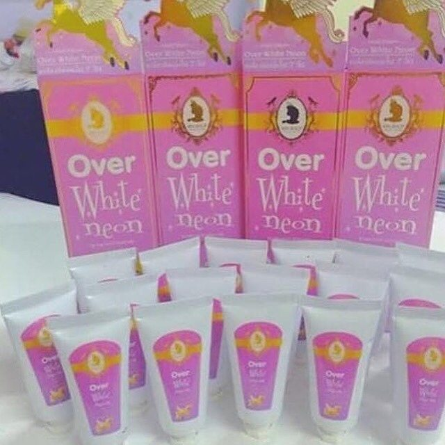 Over white neon by mn ขนาดพกพา 30ml.