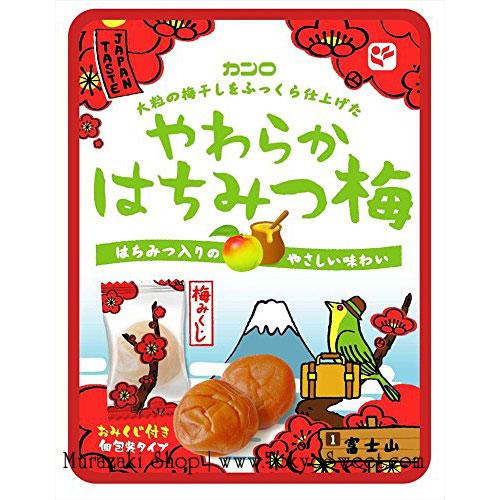 พร้อมส่ง ** Yawaraka Hachimitsu Ume บ๊วยกึ่งแห้งผสมน้ำผึ้ง หวานอมเปรี้ยว ทานแล้วสดชื่น แก้เวียนหัวเมารถได้ เนื้อบ๊วยยังมีความชุ่มไม่แห้งสนิท บรรจุ 52 กรัม บ๊วยแต่ละชิ้นห่อแยกเหมือนลูกอม พกพาสะดวก