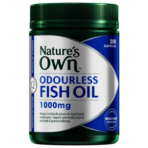 Nature's Own Odourless Fish Oil 1,000 mg. น้ำมันปลา ขนาด 400 เม็ด จากออสเตรเลีย