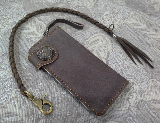 กระเป๋าหนังแท้ใส่แบงค์แฮนด์เมด A2 (มีชิ้นเดียว)