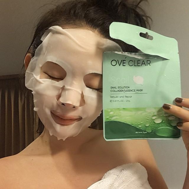 Snail solution collagen essence maskมหัศจรรย์เผยผิวใส เต่ง ตึง เพียงข้ามคืน
