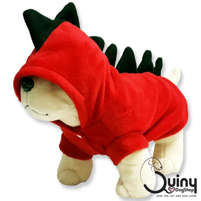 เสื้อสุนัข ก็อตซิล่า สีแดง