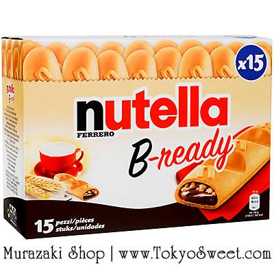 พร้อมส่ง [สินค้านำเข้าจากฝรั่งเศส] ** Ferrero Nutella B-ready เวเฟอร์อบกรอบรูปขนมปังฝรั่งเศสสอดไส้นูเทลล่า บรรจุ 15 ชิ้น