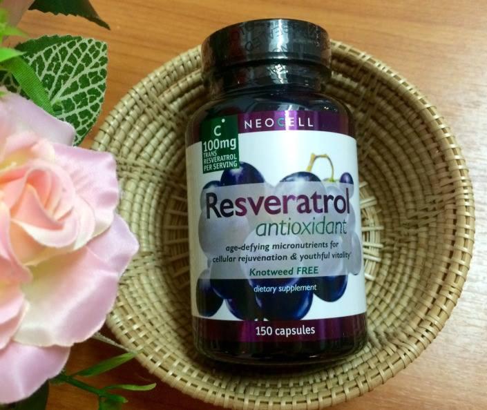 Neocell Resveratrol Antioxidant 100 mg 150 Capsules องุ่นไวน์แดงสกัด ผิวพรรณสดใส ชะลอความแก่ เห็นผลดีมาก