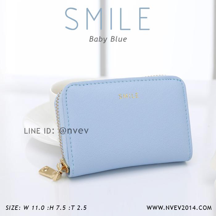 กระเป๋าใส่บัตร เอนกประสงค์ รุ่น SMILE ฟ้า