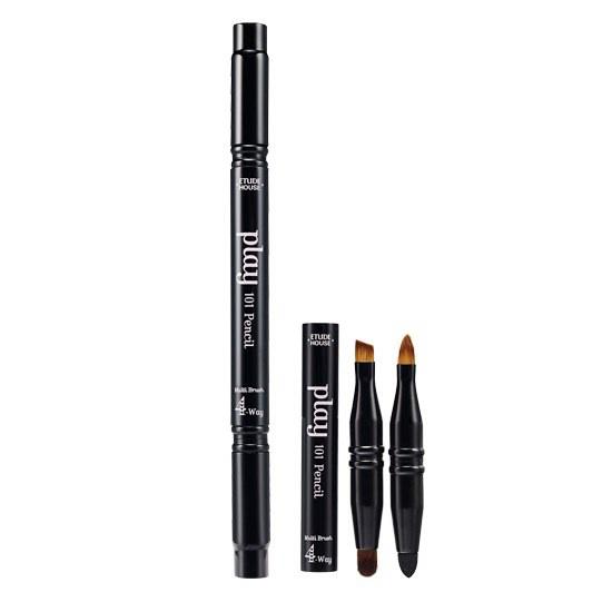 ++พร้อมส่ง++Etude house Play 101 Pencil Multi Brush หัวแปรงแต่งหน้าขนาดพกพา 4 แบบ ในแท่งเดียว