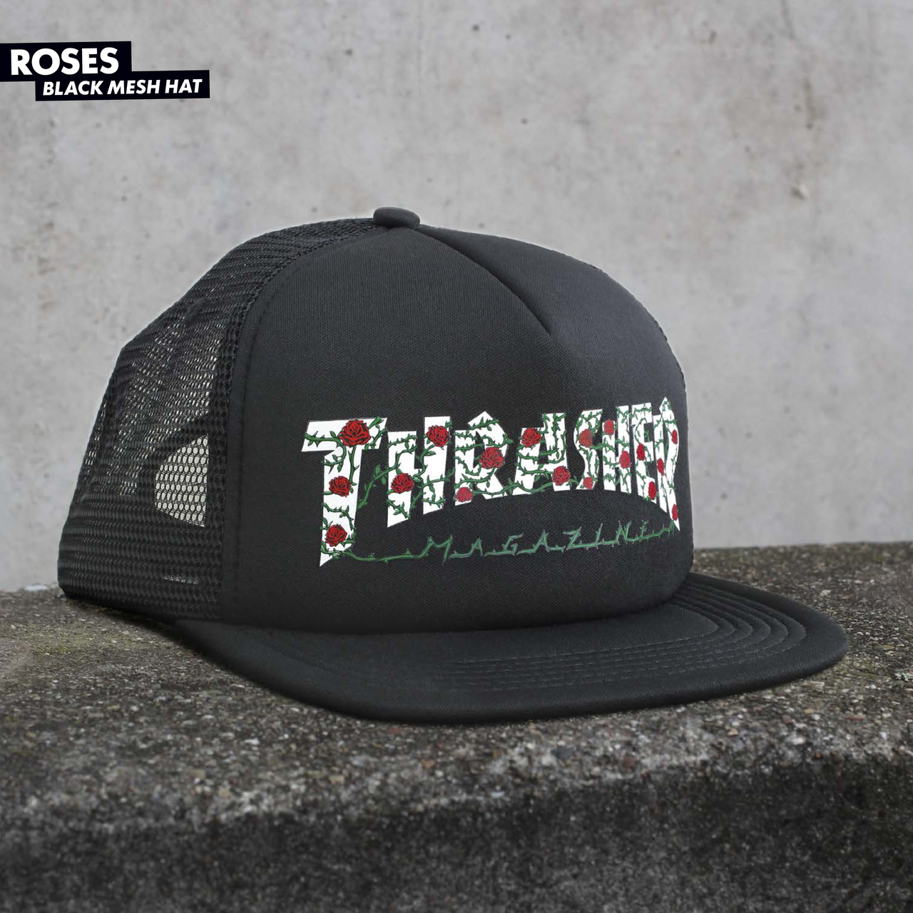4cbf929184d1 Thrasher Roses Mesh Hat Black - stamp cm : Inspired by LnwShop.com