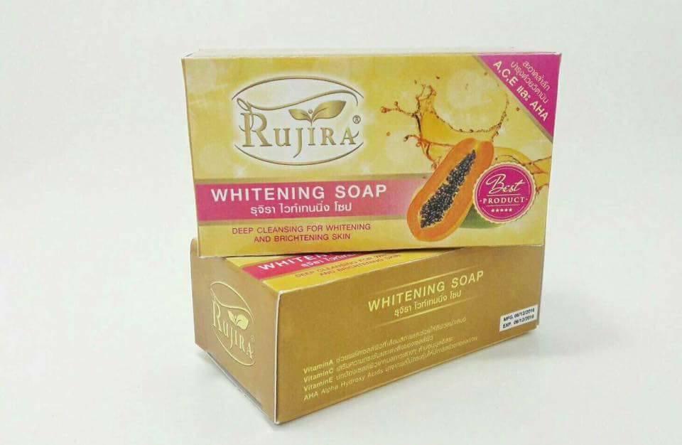 สบู่รุจิรา Rujira Whitening Soap