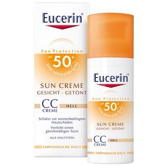 Eucerin Sun CC Crem (light) SPF 50+ , 50 ml ครีมกันแดดผสมรองพื้น