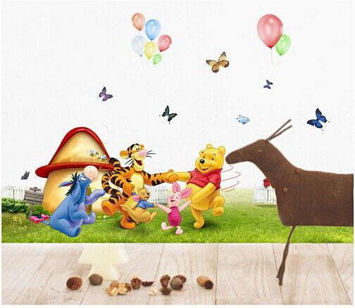 """สติ๊กเกอร์ติดผนัง ตกแต่งห้องเด็ก """"Pooh Happy Everyday"""""""