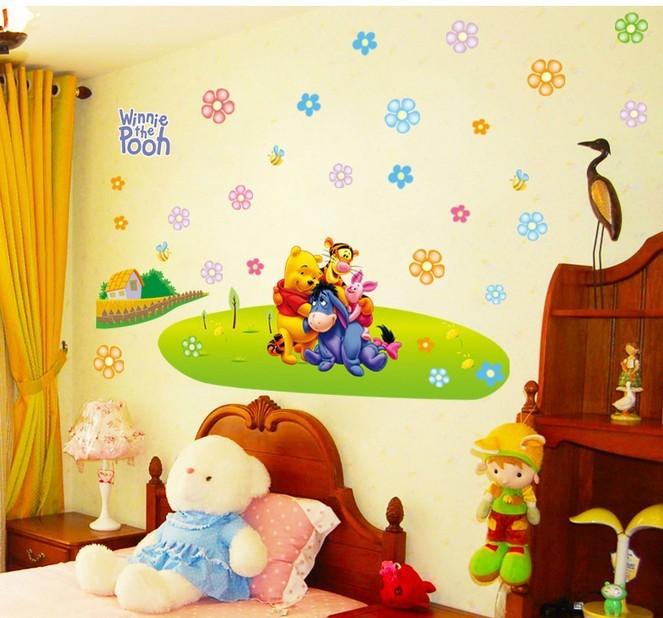 """สติ๊กเกอร์ติดผนัง ตกแต่งห้องเด็ก เนอสเซอรี่ """"Pooh Pooh"""""""