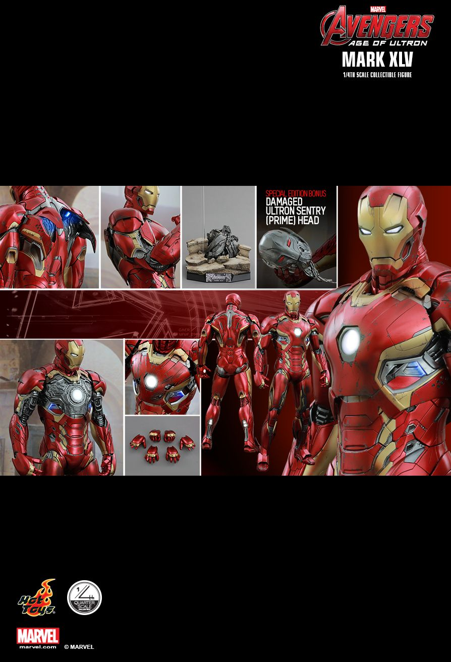 Hot Toys QS006 AVENGERS: AGE OF ULTRON - MARK XLV 1/4th scale (SE)