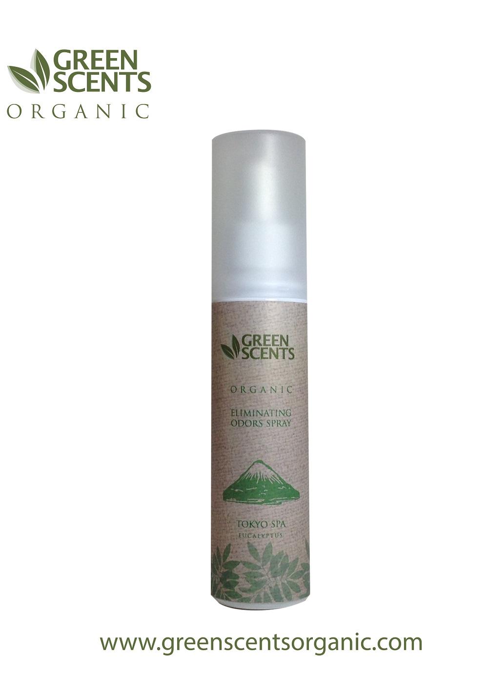 สเปรย์สลายกลิ่น กรีนเซ้นส์ ออแกนิค NEW GreenScents Organic TOKYO SPA ( Eucalyptus )