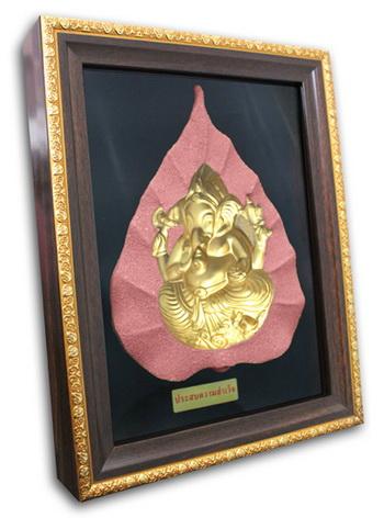 พระมองตาม ศิลปะหินทราย พระพิฆเนศ พระหันหน้าได้ ทรายสีแดง ขนาด Size 21x27x5 cm. Price ราคา 1,600 บาท.