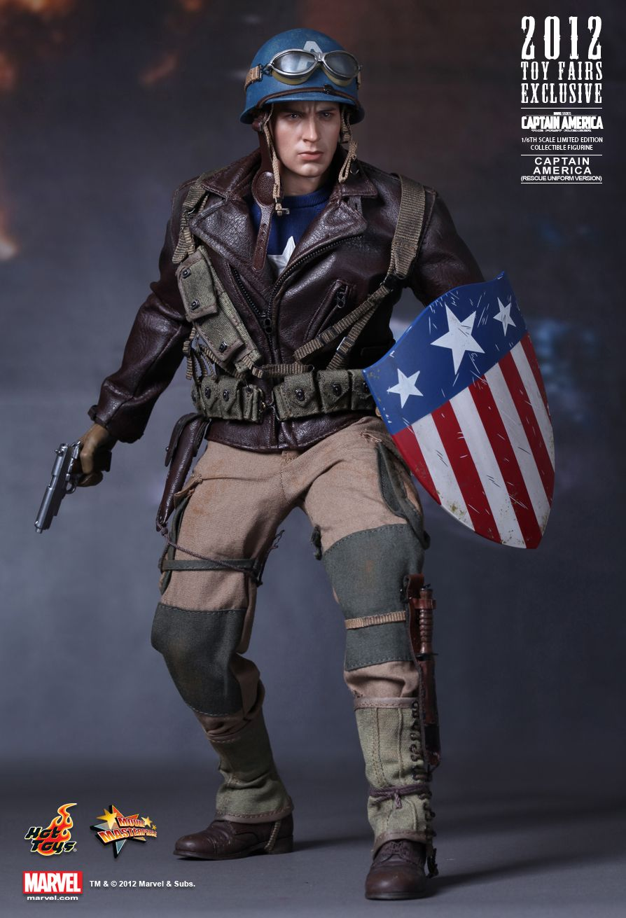 Hot Toys MMS180 CAPTAIN AMERICA: THE FIRST AVENGER - CAPTAIN AMERICA (RESCUE UNIFORM VERSION) EX