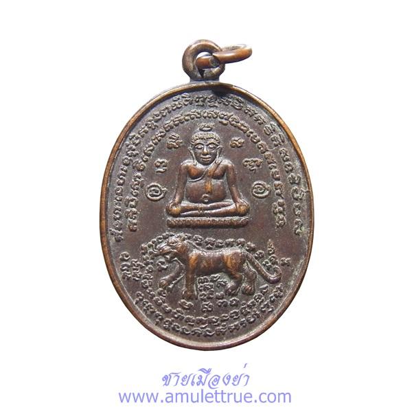 เหรียญสังกัจจายน์ทรงเสือมหาอำนาจ รุ่น1 เนื้อทองแดง หลวงพ่อหลิว วัดไร่แตงทอง ปี2534