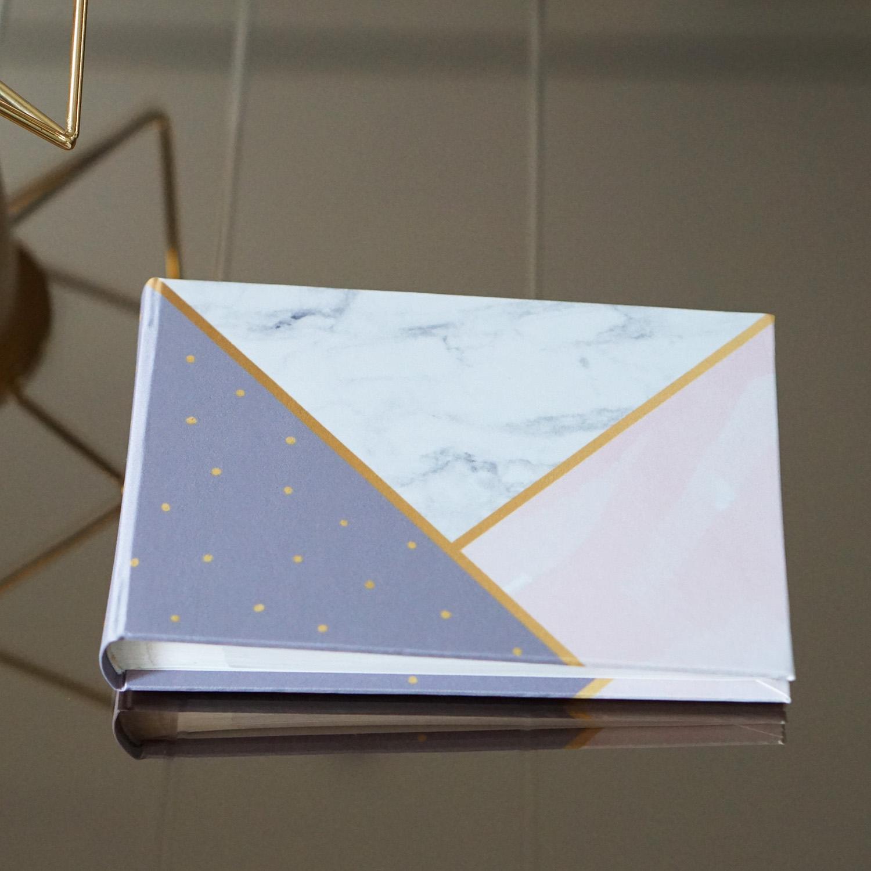"""อัลบั้มจุ 50 รูป (4x6"""") ลาย Marble Triangle - พร้อมส่ง"""