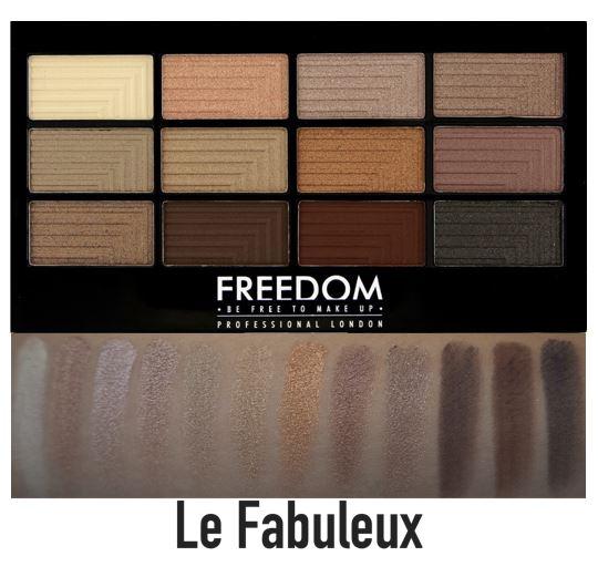 **พร้อมส่ง**Freedom Makeup London Pro 12 Eye Shadow Palette Le Fabuleux อายเชโดว์พาเลทจากลอนดอน เมืองแฟชั่น มี 12 สี เนื้อชิมเมอร์เนียนละเอียดสวยเวอร์ๆ ตระการตามากๆ เนื้อสีชัด ติดทน ไปหลุดร่วงระหว่างวัน ขนาดบางกระทัดรัดพกพาง่าย พร้อมแปรงฟองน้ำ 2 หั ,