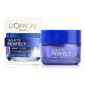 L'Oreal White Perfect night cream ลอรีอัล ไวท์ เพอร์เฟ็คท์ ไนท์ ครีม 50 มล.
