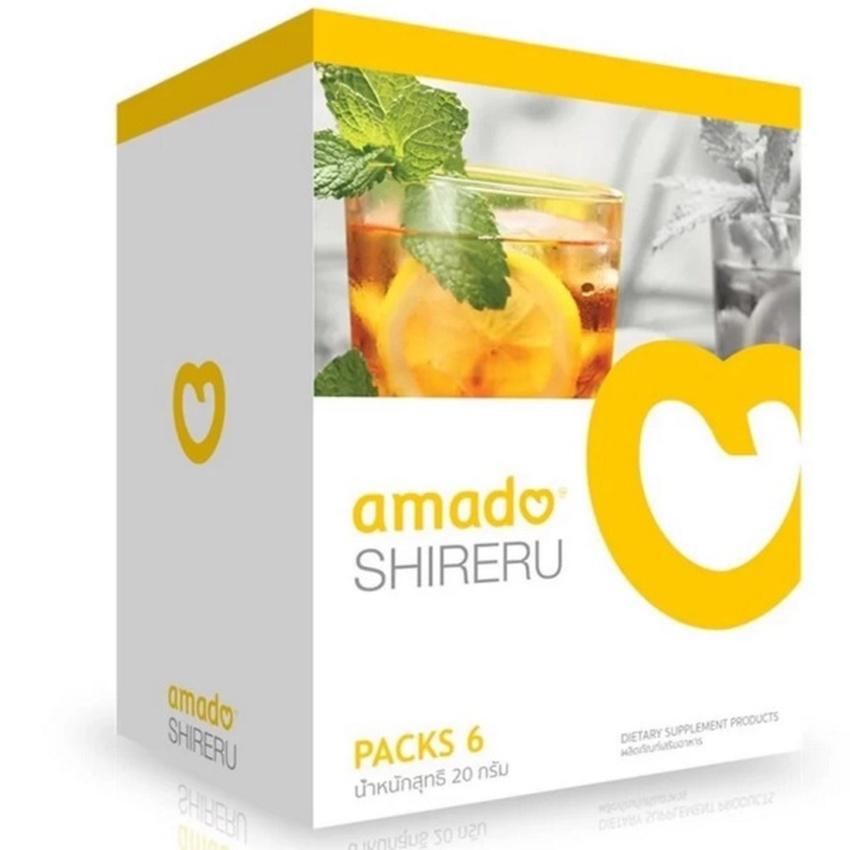 amado SHIRERU อมาโด้ ชิเรรุ เครื่องดื่มชนิดชงดื่มรสชามะนาว ดื่มแล้วผอม