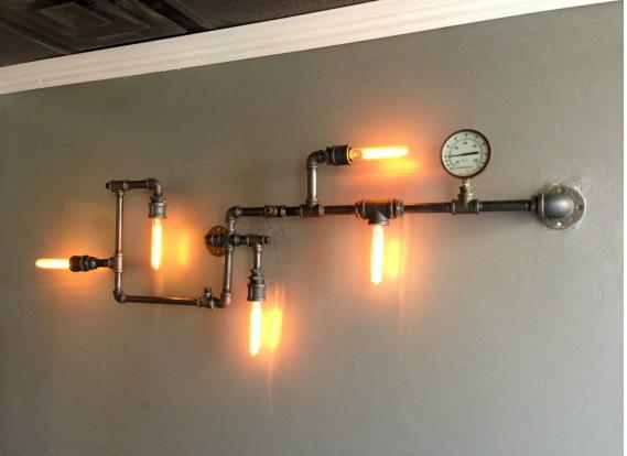 โคมไฟติดผนังดีไซน์ท่อน้ำ