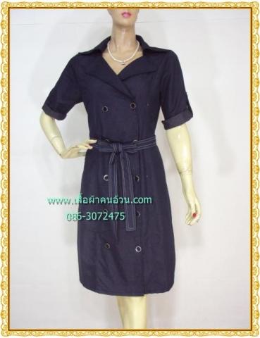 F0429เสื้อผ้าคนอ้วน ชุดทำงานสไตล์โค้ทเท่ห์มีสไตล์แบบสาวออฟฟิศยุคใหม่