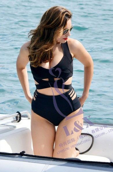 ชุดว่ายน้ำคนอ้วน สีดำ ทูพีช รอบอก 36-42 เอว 30-36 สะโพก 38-44 นิ้ว ผ้าดี งานสวยมากๆค่ะ