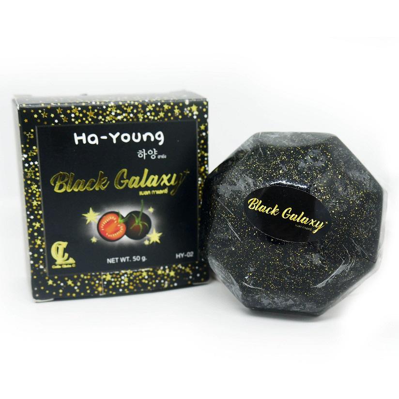 Ha-Young Black Galaxy สบู่ฮายัง แบล็ค กาแล็คซี่ สบู่ล้างหน้า มะเขือเทศดำ คลีนหน้าใสในก้อนเดียว