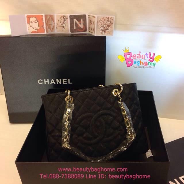 Chanel GST สีดำ CARVIER LEATHER