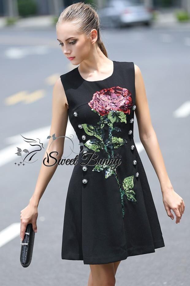 D&G shine rose sleeveless dress AW15 by Sweet Bunny