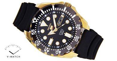 SEIKO 5 Sport Submarine Gold Black SRP608K