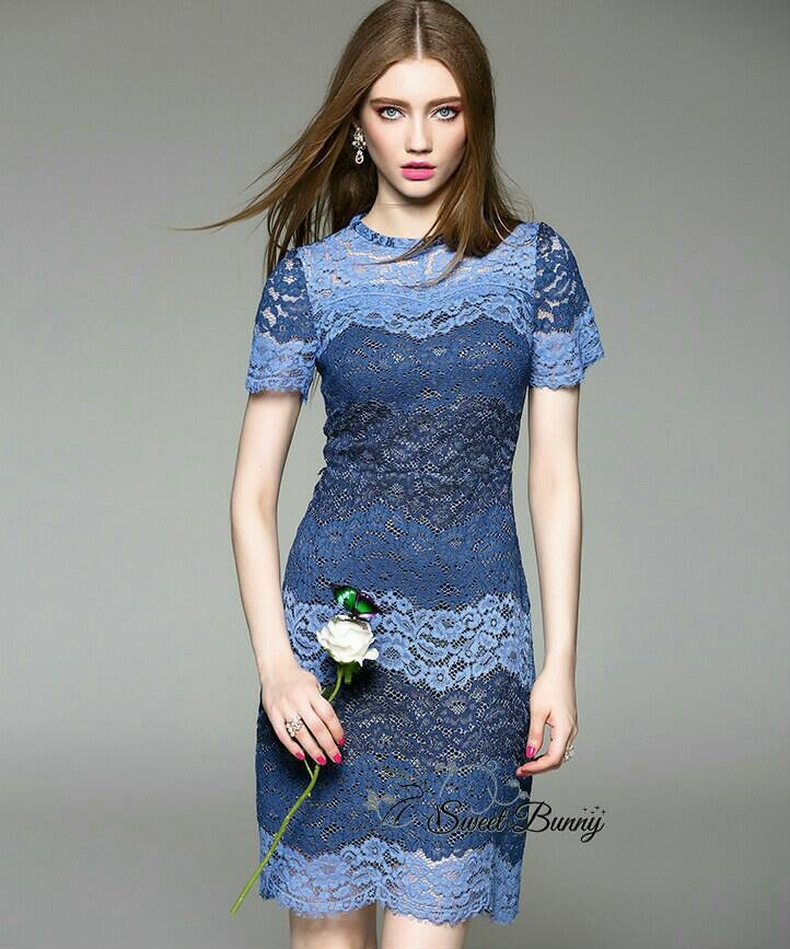 Sweet Bunny Present... Blue Lace Body Corn Dress