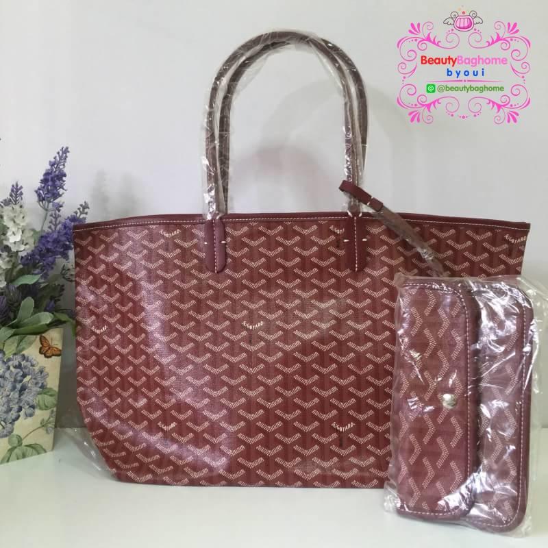 Goyard St. Louis-Shopper bag size GM สีแดงเลือดนก งานHiend 1:1