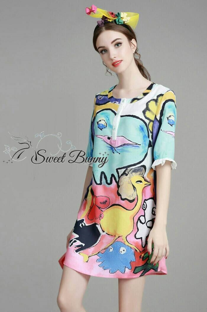 Sweet Bunny Present... Petite Jungle Print Dress