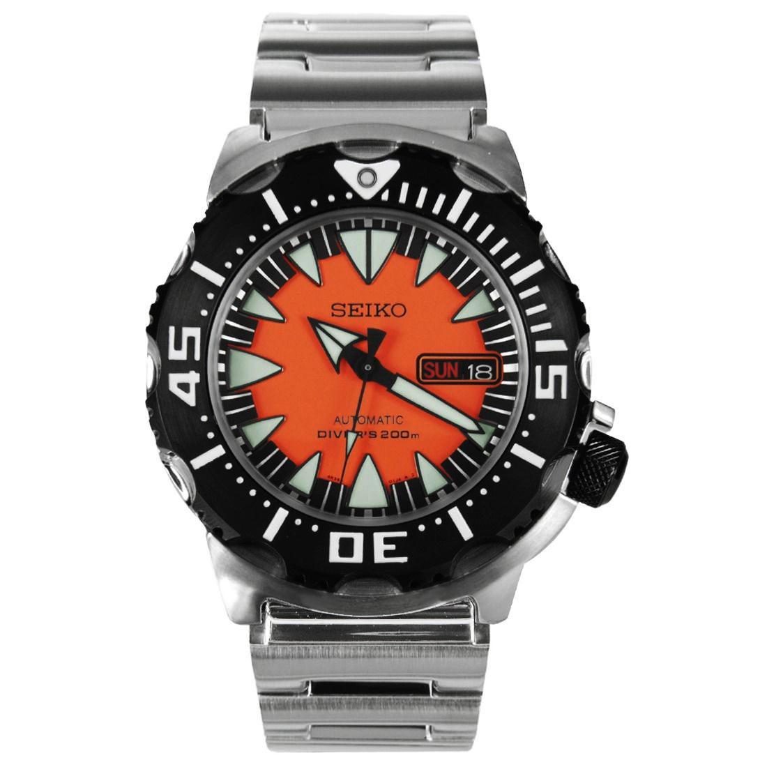 นาฬิกา Seiko Monster Black Orange Fang SRP315K