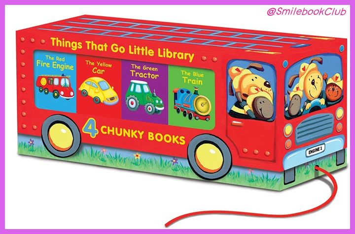 Things That Go Little Library 4 Chunky Books