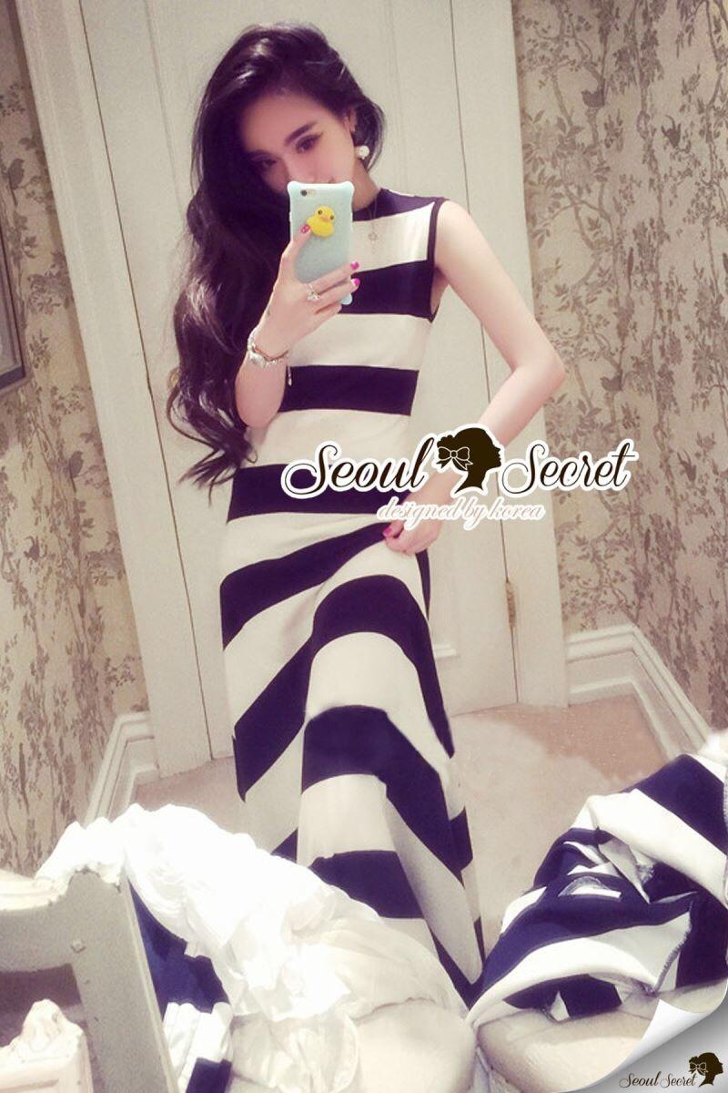 "Seoul Secret Say's... ""Chic Stripy Maxi Knit"""