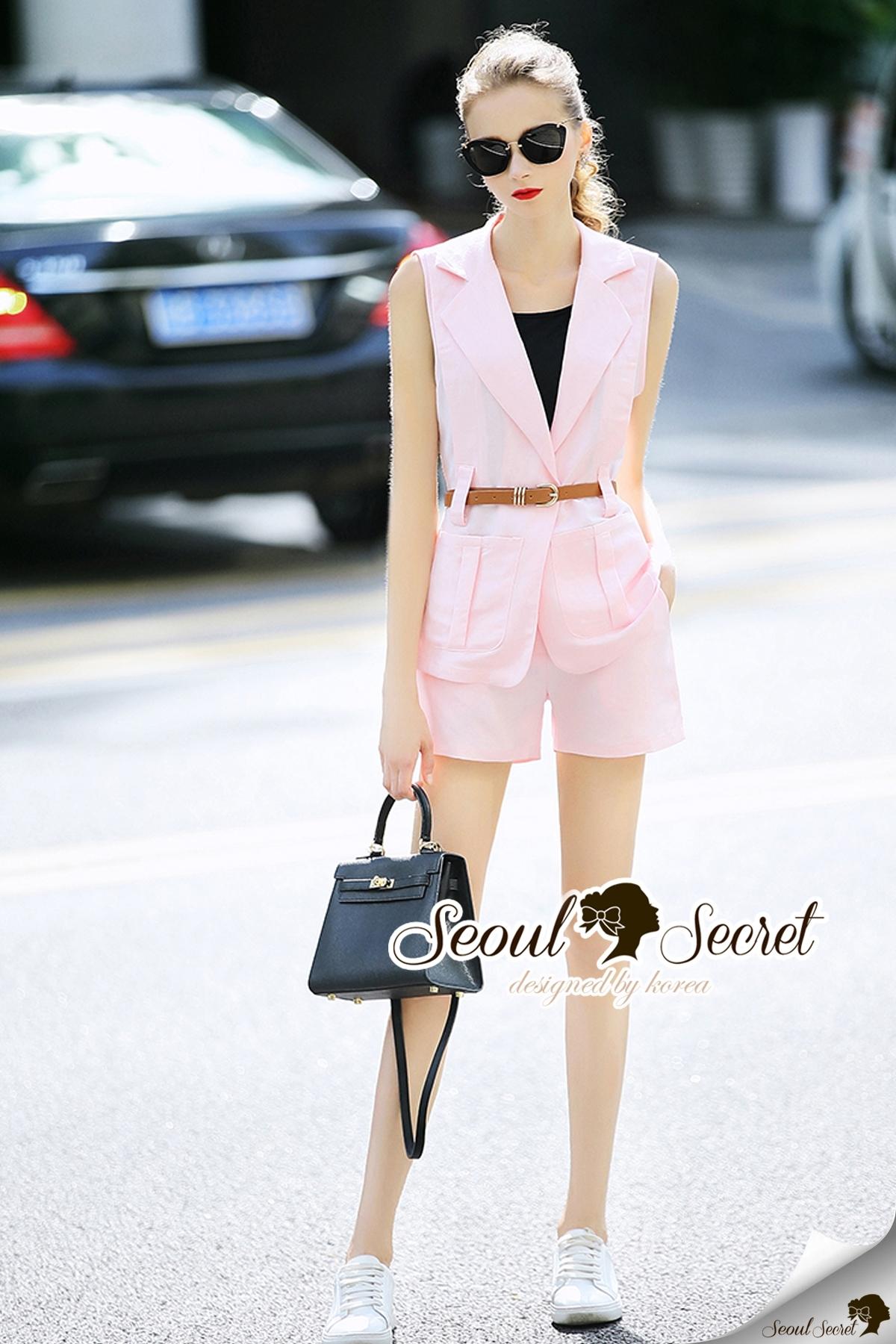 Seoul Secret Say's... Smarty Pinky V Cami Suite Set