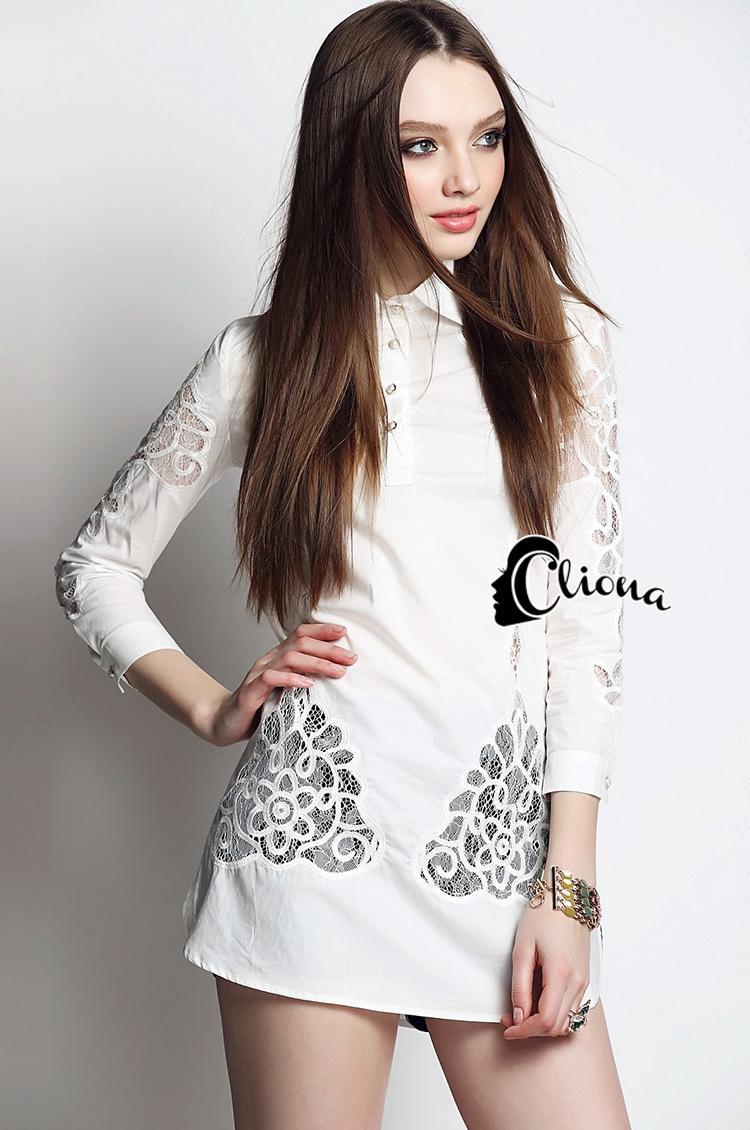 Cliona made' Inca Luxury Long Sleeves Shirt Mini Dress