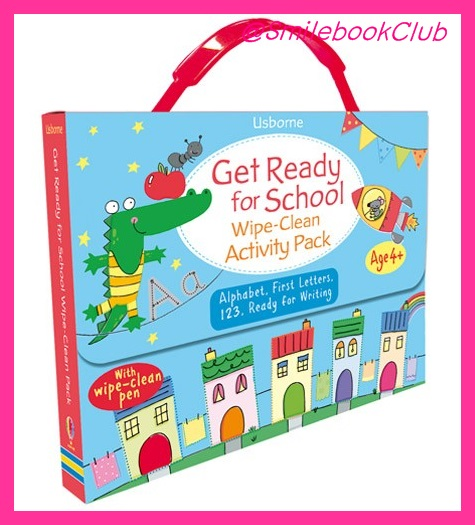 Usborne Get Ready for School : Wipe - Clean Activity Pack
