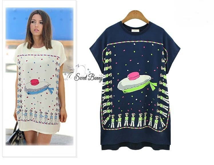 Supper cake spangle long top by Sweet Bunny สีกรม