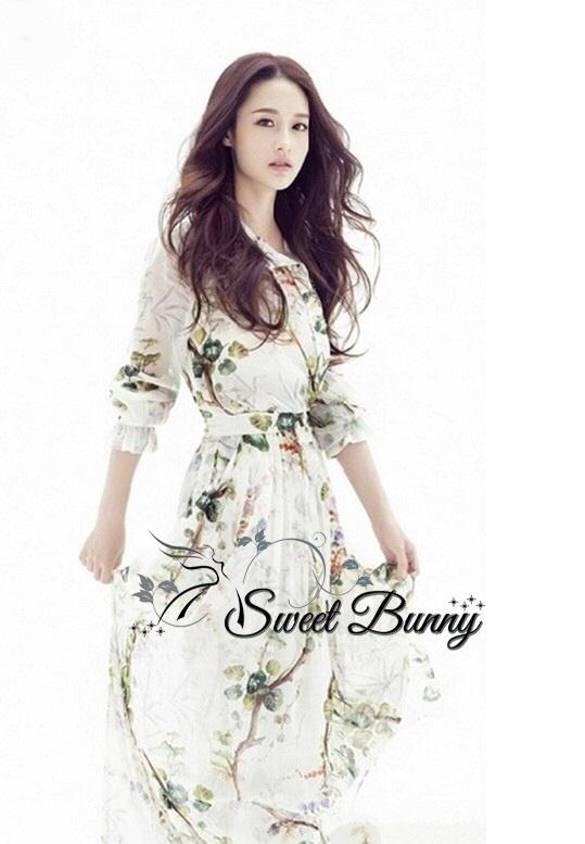 Posy print pintuck shirt dress by Sweet Bunny