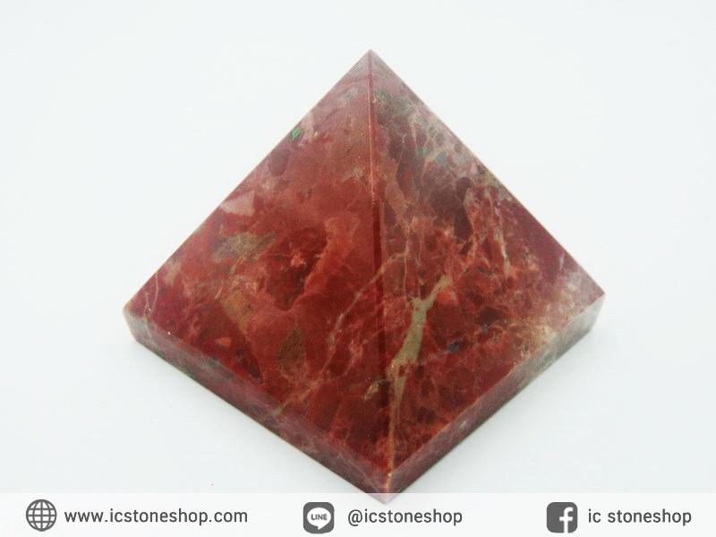 หินทรงพีระมิค เรดแจสเปอร์ Red Jasper (133g)
