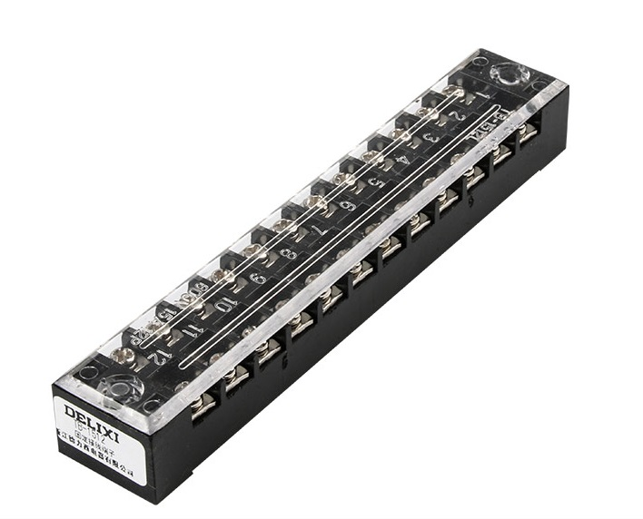 ขั้วต่อTerminals blocks TB1512 12ช่อง 600v 15a
