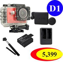 Sj5000X +(Battery+Dual charger+Protective Lans+Monopod Selfie)