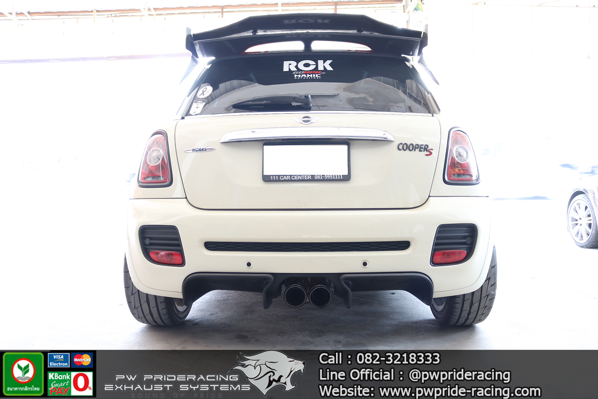 ชุดท่อไอเสีย Mini Coopers R56 Valvetronic Exhaust by PW