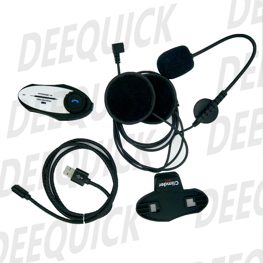 ภาพ climder intercom ติดหมวกกันน็อก มีกล้อง VDO รุ่น GXV อุปกรณ์ภายในกล่อง