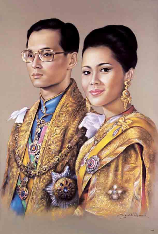 รูปในหลวงและพระราชินี
